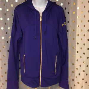 New purple & gold Under Armour jacket/hoodie